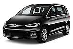 2016 Volkswagen Touran Highline 5 Door Mini Mpv Angular Front stock photos of front three quarter view