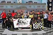 #19: Brandon Jones, Joe Gibbs Racing, Toyota Supra Menards/Turtle Wax celebrates Toyota's 500th NASCAR win