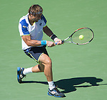 David Ferrer (ESP) loses to Richard Gasquet (FRA) in 5 sets, 6-3, 6-1, 4-6, 2-6, 6-3 at the US Open being played at USTA Billie Jean King National Tennis Center in Flushing, NY on September 4, 2013