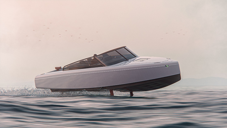 The C8 is absolutely silent, 95% cheaper to drive and sporting the longest electric range of any boat in history says builder Candela
