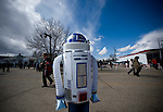 Edmonton - April 23, 2010 - Star Trek fans line the street to welcome Leonard Nimoy, Spock, to Vulcan, Alberta, Canada. PHOTO BY JIMMY JEONG