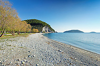 The beach Hovolo of Skopelos island, Greece