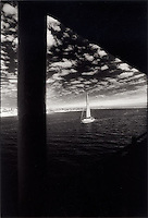 Sailboat in harbour<br />