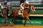 Circle Unbroken, ridden by jockey Jon Kenton and trained by Garry Simms, win the G3 Bashford Manor Stakes at Churchill Downs in Louisville, Kentucky Saturday June 30, 2012.