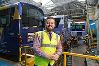 First Cymru Managing Director Andrew Sherrington at the Ravenhill depot in Swansea, Wales, UK. Friday 01 June 2018