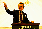 Newnham, Northamptonshire, England. A country house auction is conducted by the London auctioneers Christies at Newnham Hall. Lord Hindlip Chairman of Christies takes the auction, he is looking for just one more bid from the floor. 1994 1990S UK