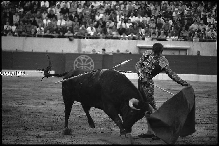 19 Septembre 1965. Vue de la corrida d'El Cordobés dans les arènes de Toulouse.