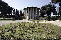 Il Tempio di Ercole Vincitore a Roma.<br /> The Temple of Hercules Victor, in Rome.<br /> UPDATE IMAGES PRESS/Riccardo De Luca