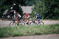 last survivors of the breakaway group on the last climb towards the finish<br /> <br /> Stage 5: Grenoble > Valmorel (130km)<br /> 70th Critérium du Dauphiné 2018 (2.UWT)
