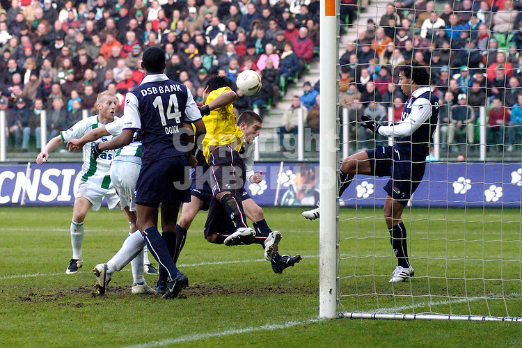 fc groningen - az eredivisie seizoen 2007-2008 17-02-2008 doelman romero redt.fotograaf Jan Kanning *** Local Caption ***