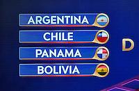 New York City - February 21, 2016: Copa America Centenario Draw USA 2016 at Hammerstein Ballroom in New York City.