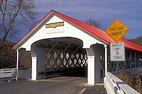 covered bridge, Ashuelot, New Hampshire, NH, Ashuelot Covered Bridge ca.1864 in Ashuelot in the autumn.