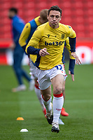 21st April 2021; Bet365 Stadium, Stoke, Staffordshire, England; English Football League Championship Football, Stoke City versus Coventry; James Chester of Stoke City during the warm up