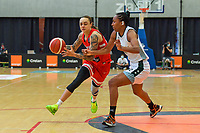 J. Gwathney (24) of Puerto Rico and Oderah Chidom (22) of Nigeria pictured during a basketball game between Nigeria and Puerto Rico on Friday 28 th of May 2021 in Kortrijk , Belgium . PHOTO SPORTPIX.BE   SPP   STIJN AUDOOREN