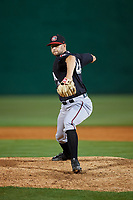 Chattanooga Lookouts relief pitcher Luke Bard (24) delivers a pitch during a game against the Jackson Generals on April 27, 2017 at The Ballpark at Jackson in Jackson, Tennessee.  Chattanooga defeated Jackson 5-4.  (Mike Janes/Four Seam Images)