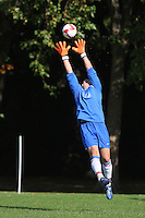 The Lapton FC goalkeeper makes a catch during the Hackney & Leyton Sunday League match at Victoria Park - 14/09/08 - MANDATORY CREDIT: Gavin Ellis/TGSPHOTO - Self billing applies where appropriate - Tel: 0845 094 6026
