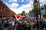 © Joel Goodman - 07973 332324 . 19/06/2011 . Manchester , UK . Thousands of Mancunians line the streets of Manchester City Centre to watch the annual Manchester Day Parade, which celebrates Manchester life and culture . Photo credit : Joel Goodman