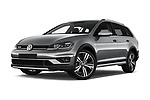 Stock pictures of low aggressive front three quarter view of 2017 Volkswagen Golf Alltrack Base 5 Door Wagon