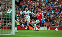 Pictured: Stephen Dobbie of Swansea City in action. Saturday 10 September 2011<br /> Re: Premiership Arsenal v Swansea City FC at the Emirates Stadium, London.