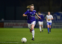 20180126 - OOSTAKKER , BELGIUM : Anderlecht's Sarah Wijnants pictured during the quarter final of Belgian cup 2018 , a womensoccer game between KAA Gent Ladies and RSC Anderlecht , at the PGB stadion in Oostakker , friday 27 th January 2018 . PHOTO SPORTPIX.BE   DAVID CATRY
