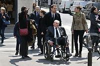 PERE DE NICOLAS DUPONT-AIGNAN - OBSEQUES DE LA MERE DE NICOLAS DUPONT-AIGNAN A L' EGLISE SAINT PIERRE DU GROS CAILLOU, PARIS, 04/05/2017