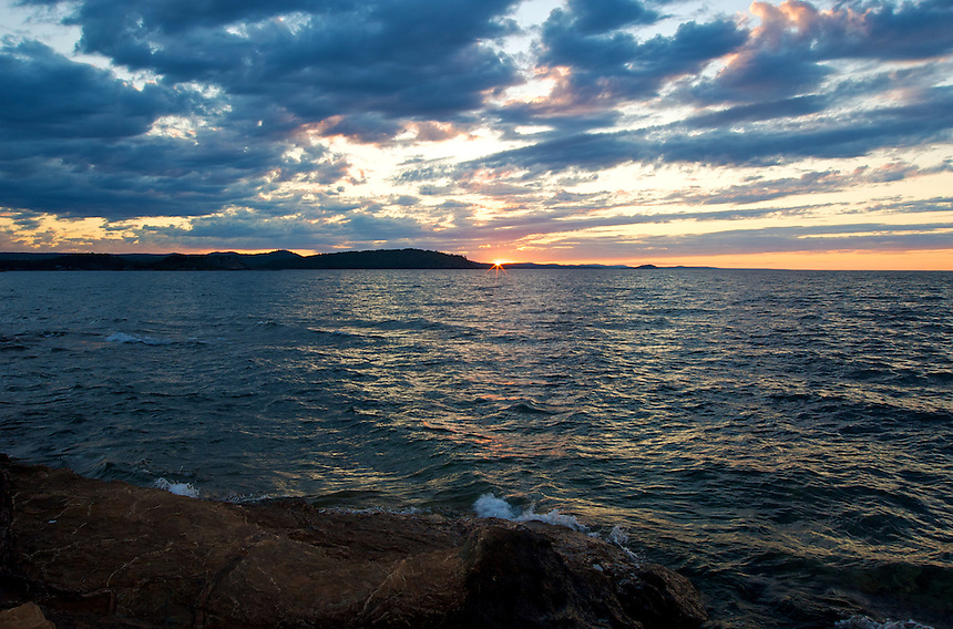 A summer sunset in the Upper Peninsula of Michigan.