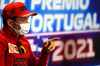 29th April 2021; Algarve International Circuit, in Portimao, Portugal; F1 Grand Prix of Portugal, driver and team arrival and inspection day; Charles Leclerc MON, Scuderia Ferrari Mission Winnow press conference