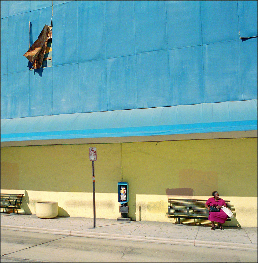 """Hot winds of Downtown<br /> From """"Color Blind"""" series. Miami, 2005"""