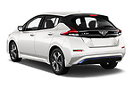 Car pictures of rear three quarter view of 2020 Nissan Leaf SV 5 Door Hatchback Angular Rear