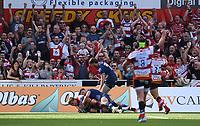 9th October 2021; Kingsholm Stadium, Gloucester, England; Gallagher Premiership Rugby, Gloucester versus Sale Sharks;  Jack Singleton of Gloucester scores a try
