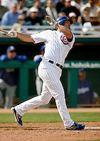 Micah Hoffpauir - Chicago Cubs - 2009 spring training.Photo by:  Bill Mitchell/Four Seam Images