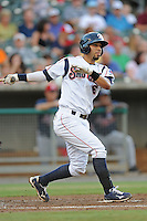 Marwin Gonzalez during a game against the Mississippi Braves at Smokies Park, Kodak, TN August 19, 2010. Tennessee won the game 5-4.