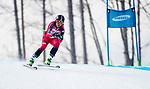 Alana Ramsay, PyeongChang 2018 - Para Alpine Skiing // Ski para-alpin.<br /> Alana Ramsay skis in the women's standing downhill // Alana Ramsey skis en descente debout femmes. 10/03/2018.