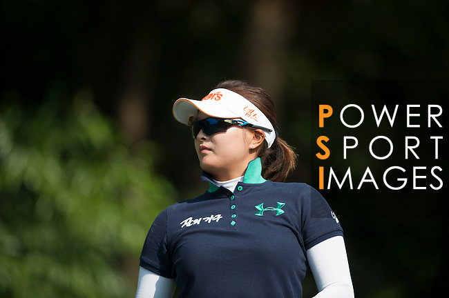 Jin-Young Ko of Korea looks on during the Hyundai China Ladies Open 2014 at World Cup Course in Mission Hills Shenzhen on December 14 2014, in Shenzhen, China. Photo by Xaume Olleros / Power Sport Images