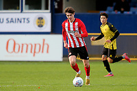 Max Haygarth of Brentford, on loan from Manchester United, in action during Watford Under-23 vs Brentford B, Friendly Match Football at Clarence Park on 24th November 2020