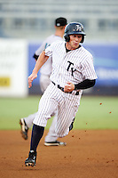 Tampa Yankees Slade Heathcott #11 during a Florida State League game against the Jupiter Hammerheads at Legends Field on July 17, 2012 in Tampa, Florida.  Tampa defeated Jupiter 12-0.  (Mike Janes/Four Seam Images)