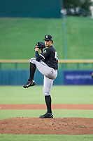 AZL White Sox starting pitcher Bryan Saucedo (45) delivers a pitch to the plate against the AZL Cubs on August 13, 2017 at Sloan Park in Mesa, Arizona. AZL White Sox defeated the AZL Cubs 7-4. (Zachary Lucy/Four Seam Images)