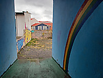 Glimpse down an alley in downtown Reykjavik