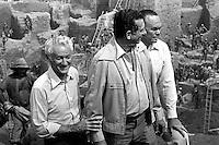 Garimpo de Serra Pelada.<br /> (esq. para dir.) Senador Gabriel Hermes, ministro das Minas e Energias César Cals e governador do Pará Alacid Nunes.<br /> Marabá, Pará, Brasil.<br /> Foto Lúcio Flávio Pinto.<br /> 1982