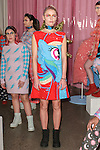 "Model poses in an outfit from the Hayley Elsaesser Fall Winter 2017 ""My Little Pony"" collection, at Milk Studios on 540 West 15th Street in New York City, on February 8, 2017; during New York Fashion Week: Women's Fall 2017."