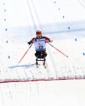 Pyeongchang, Korea, 14/3/2018-Yves Bourque compete in the cross country sprints during the 2018 Paralympic Games in PyeongChang. Photo Scott Grant/Canadian Paralympic Committee.