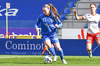 Fleur Pauwels (66) of KRC Genk pictured during a female soccer game between  Racing Genk Ladies and SV Zulte-Waregem on the 18 th and last matchday before the play offs of the 2020 - 2021 season of Belgian Scooore Womens Super League , saturday 27 th of March 2021  in Genk , Belgium . PHOTO SPORTPIX.BE | SPP | JILL DELSAUX