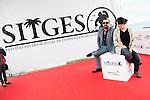 "Spanish director Nacho Vigalondo and the producer Nahikari Ipiña pose to the media during the presentation of the film ""Colossal"" at Festival de Cine Fantastico de Sitges in Barcelona. October 08, Spain. 2016. (ALTERPHOTOS/BorjaB.Hojas)"