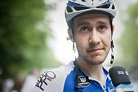 runner-up finisher Laurens De Plus (BEL/QuickStep Floors) interviewed post-stage<br /> <br /> Ster ZLM Tour (2.1)<br /> Stage 4: Hotel Verviers > La Gileppe (Jalhay)(190km)