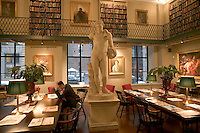 Periodical reading room, Boston Athenaeum, winter