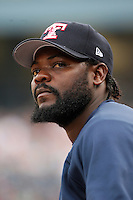 June 12th 2008:  Fernando Rodney of the Toledo Mudhens, Class-AAA affiliate of the Detroit Tigers, during a game at Fifth Third Field in Toledo, OH.  Photo by:  Mike Janes/Four Seam Images