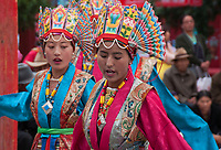 Buddhist teachings and local history are the sources of Tibetan Opera's inspiration, so most of its repertoire is based on them. The traditional drama is a combination of dances, chants, songs, and masks. The highlight of Lhamo is its mask.<br /> <br /> Tibetan opera, the most popular traditional opera of minority ethnic groups in China, is a comprehensive art combining folk song, dance, storytelling, chant, acrobatics and religious performance.