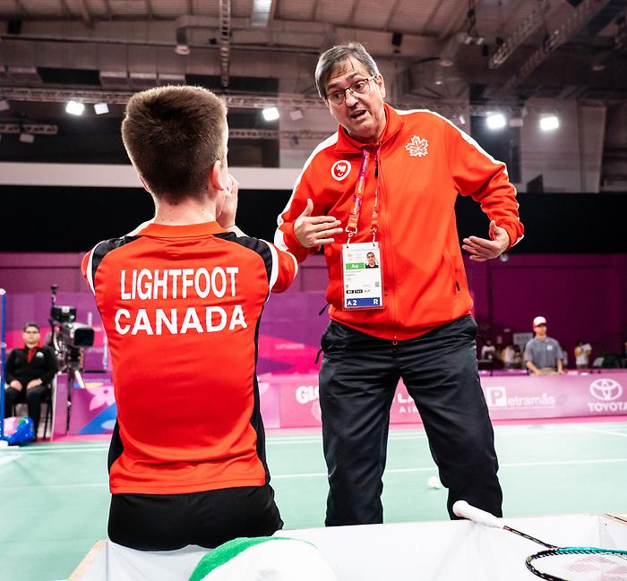 Wyatt Lightfoot, Lima 2019 - Para Badminton // Parabadminton.<br /> Wyatt Lightfoot compete in badminton // Wyatt Lightfoot participent au badminton. 31/08/2019.