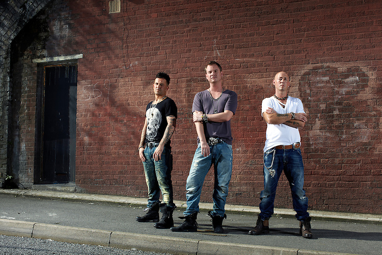 photograph by JOHN ANGERSON..East 17 are a pop band comprising Tony Mortimer, John Hendy and Terry Coldwell.