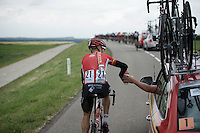 Lars Bak (DEN/Lotto-Soudal) getting some bottles for his teammates<br /> <br /> stage 3: Buchten-Buchten (190km)<br /> 29th Ster ZLM Tour 2015